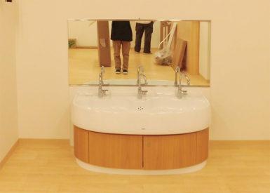 鏡飛散防止ガラスフィルム施工後